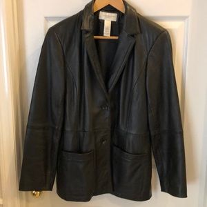 Vintage Liz Claiborne 100% Leather Jacket/Blazer
